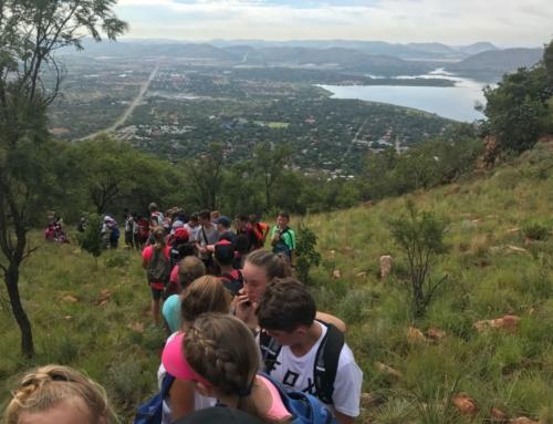 Grade 8's take on the mountain!